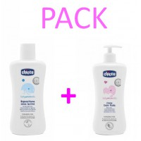 CHICCO PACK 14.95 ESPUMA BAÑO 750ML + CREMA 500M
